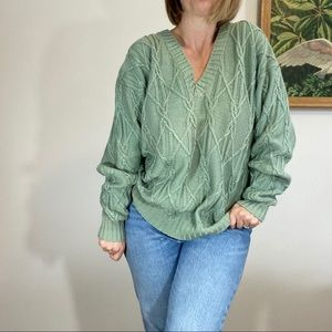 Peruvian Connection Vintage Cable Knit Sweater